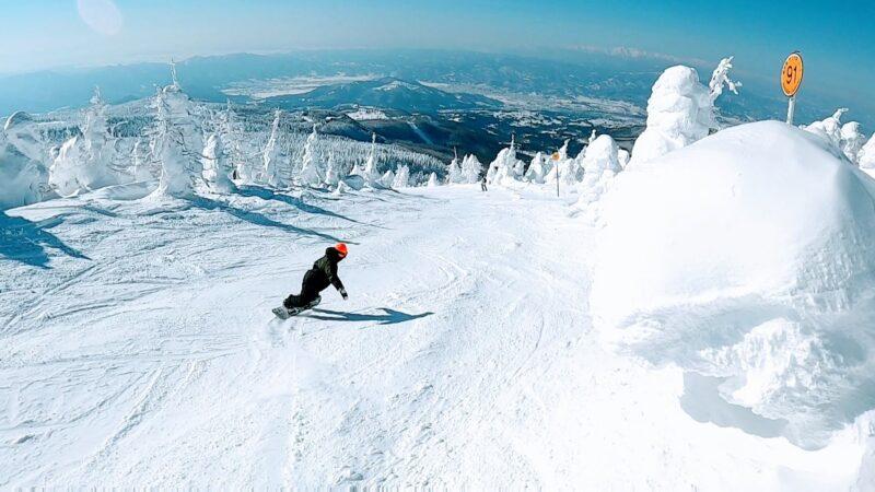 【絶景樹氷原と最高のスノーボード】大快晴1月山形蔵王温泉スキー場  Enjoying-great-snowboarding-with-great-views-of-Snowmonsters-at-Yamagata-Zao-Onsen-Ski-Resort-in-January.Preservation.jpg