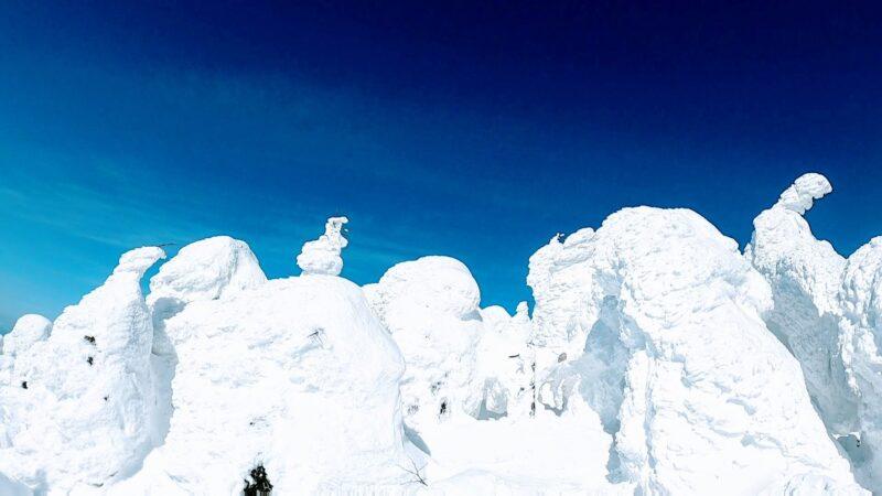 【樹氷が綺麗な場所2つ紹介 2月大快晴絶景】山形蔵王温泉スキー場 A-beautiful-place-for-icemonsters-at-Yamagata-Zao-Onsen-Ski-Resort.jpg