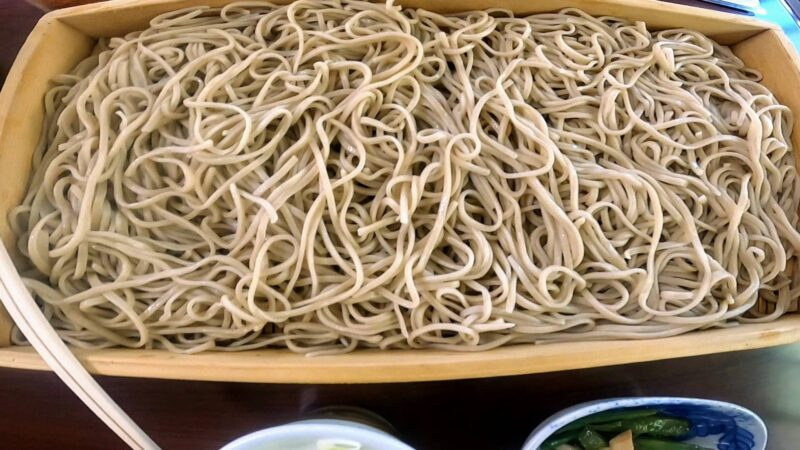 【食事処きくち 板そば】名物ジンギスカン 山形蔵王温泉街高湯通り    Delicious-soba-and-Genghis-Khan-at-Kikuchi-Restaurant-in-Yamagata-Zao-Onsen-Ski-Resort.jpg