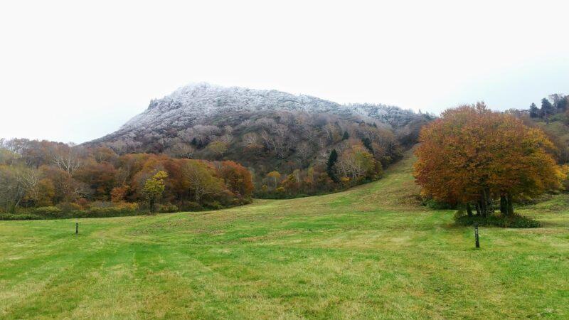 【例年10日早い初冠雪 初雪の山形蔵王】紅葉見頃の秋ロープウェイ Yamagata-Zao-Onsen-Ski-Resort-with-First-Snowfall-and-Autumn-Ropeway-with-Autumn-Leaves.jpg